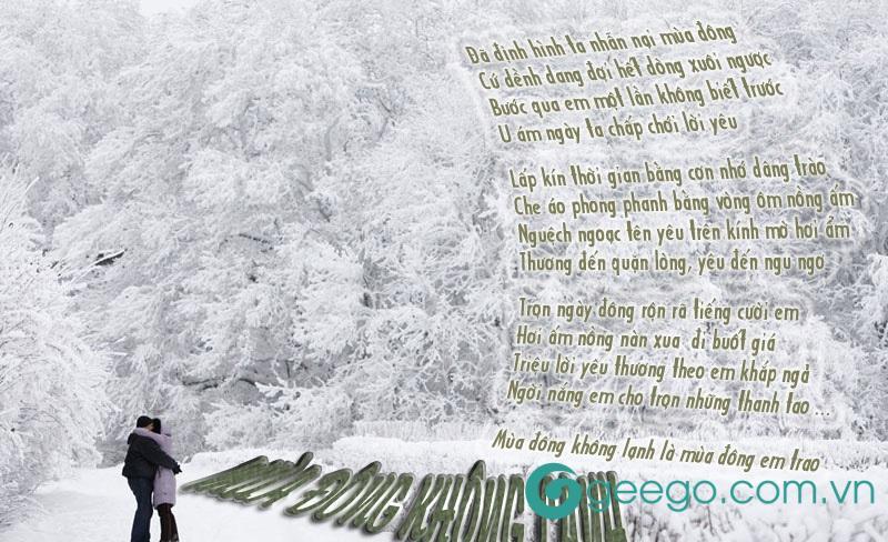 Thơ tình yêu mùa đông có những ý nghĩa sâu lắng riêng