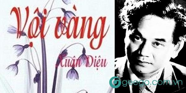 Một số tác phẩm tiêu biểu của nhà thơ Xuân Diệu